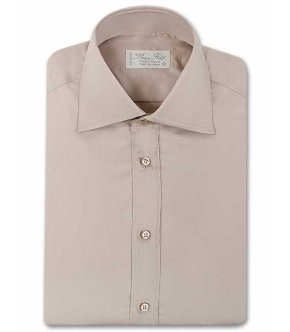 Shirt man slim fit solid collar the top two buttons