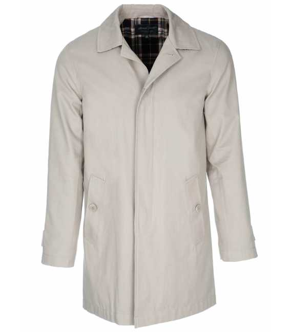 Trench-adjusted man 100% cotton