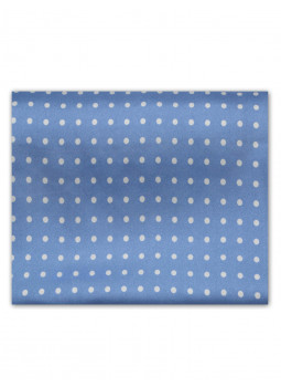 Scarf in pure silk with large polka dots