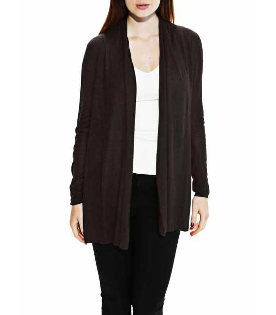 Woman vest shawl collar bamboo cashmere