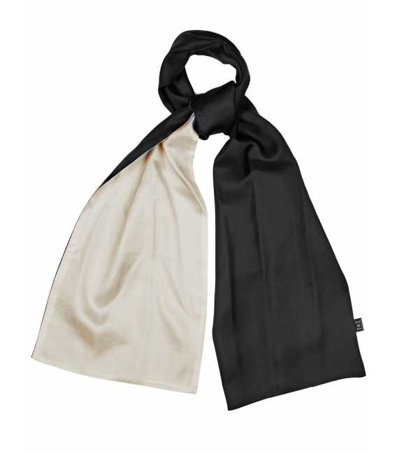 Scarf two-tone silk reversible