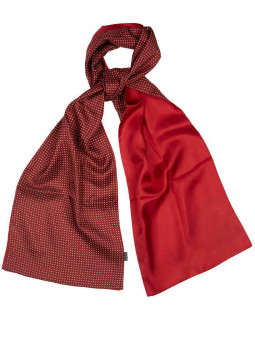 Scarf pure silk polka dot reversible kingdom