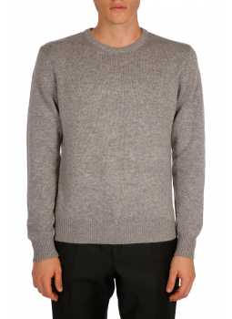 Mens sweater round neck in wool and cashmere