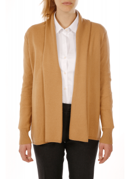 Woman vest open shawl collar cashmere and wool