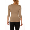 T-shirt women viscose stretch three quarter sleeves