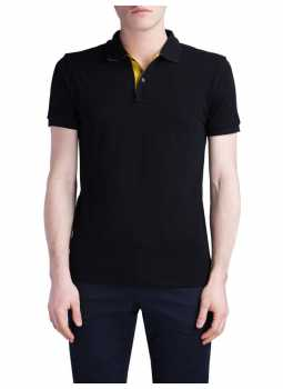 Polo man 100% cotton pique finishes contrasting
