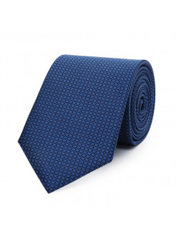 Tie in pure silk patterned