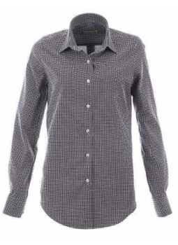 Blouse right woven whimsy polka dot