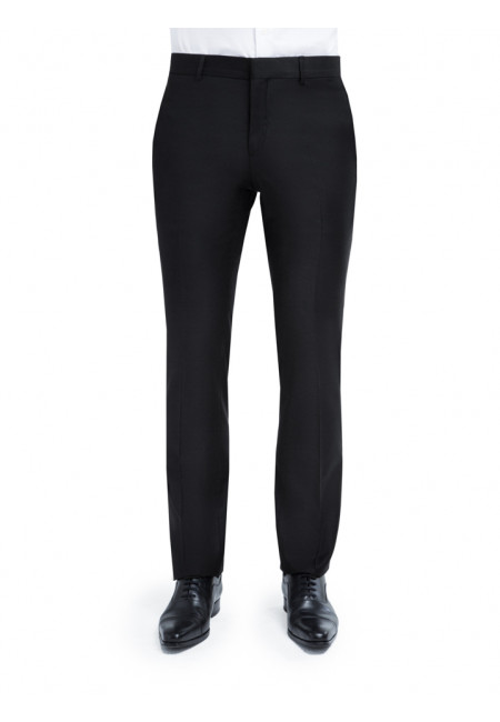 Pantalon David fitté en pure laine 110's Barberis Canonico