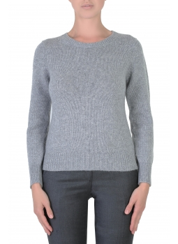 Pull femme col rond en cachemire