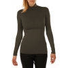 T-shirt women turtleneck viscose stretch