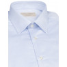 Shirt man slim fit faux-uni pure cotton double twisted