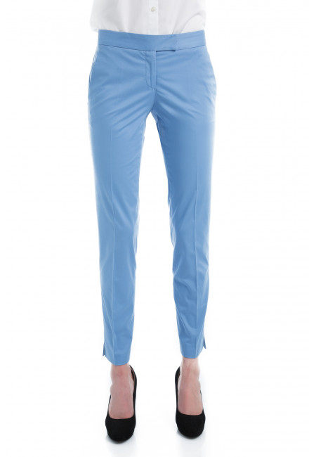 Pantalon en coton légèrement stretch coupe cigarette