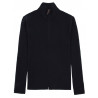 Cardigan zip man 100% Merino wool thick