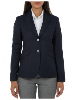 Blazer Daniela bodices button Silver 100% wool Reda