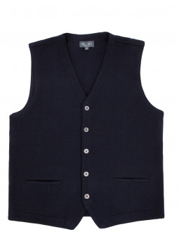 Vest man sleeveless wool merinos