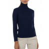 Sweater women turtleneck ribbed 100% merino wool