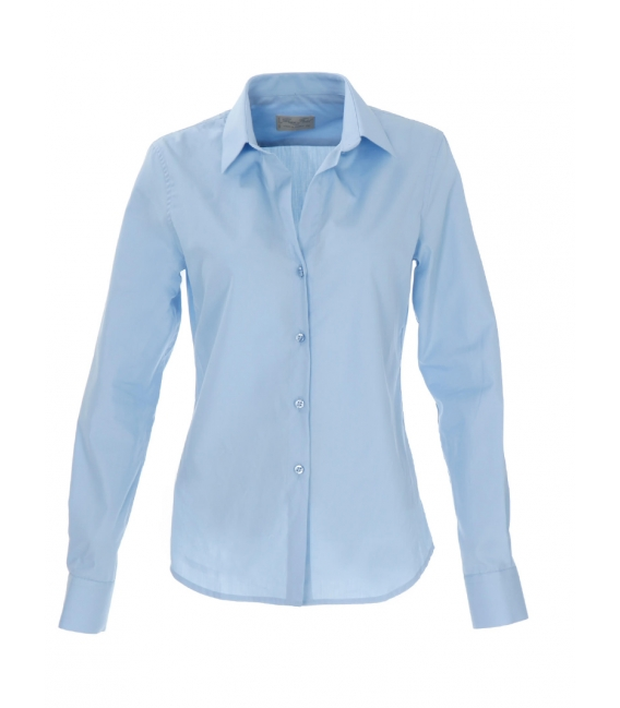 Blouse cinched at the scooped neckline 100% cotton