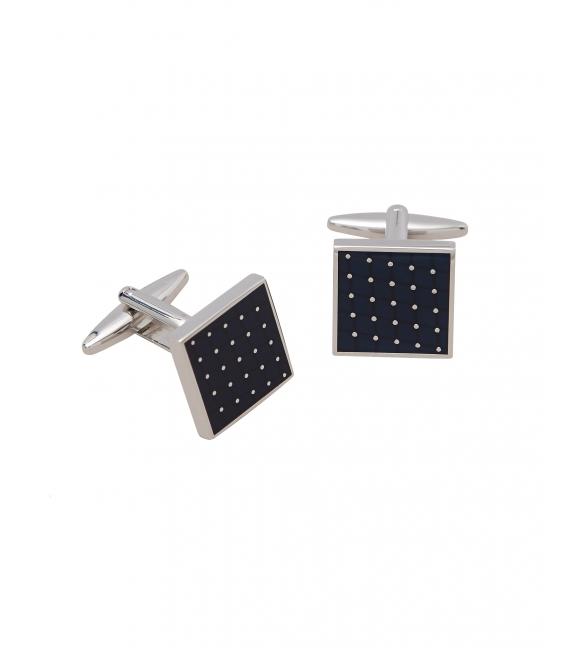 Cufflinks two-tone metal and black