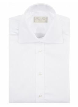 Shirt man slim fit with two-buttons collar