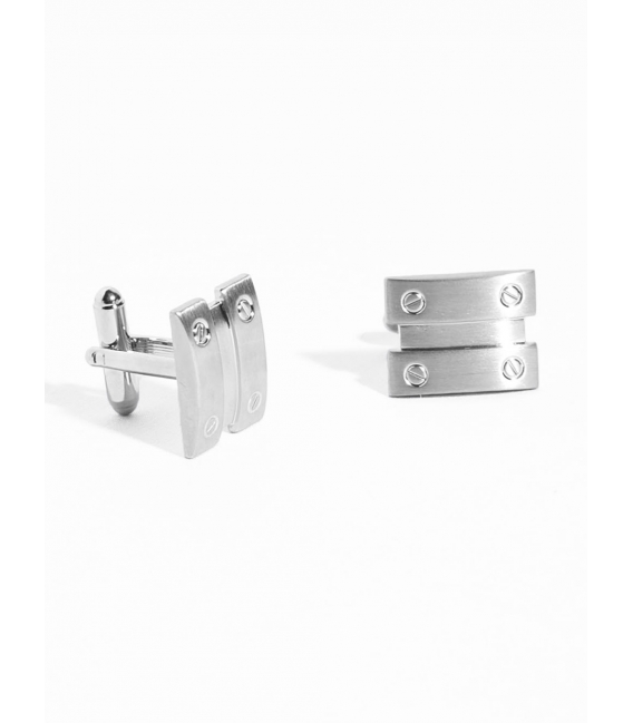 Cufflinks metal plate screwed