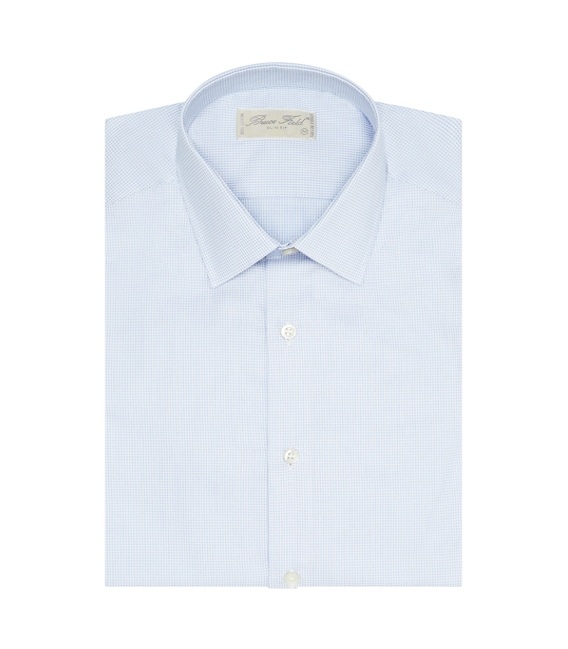 Shirt man slim fit pure cotton