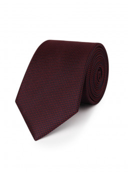 Thin tie in pure silk with small pattern cashmere