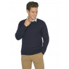 Pull col rond laine et cachemire fin GG12