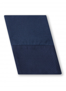 Sleeve suit in pure silk navy reversible patterned dots surrounded