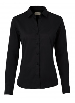 Blouse cinched kingdom with the deep neckline